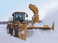 detachable snow blower for loader