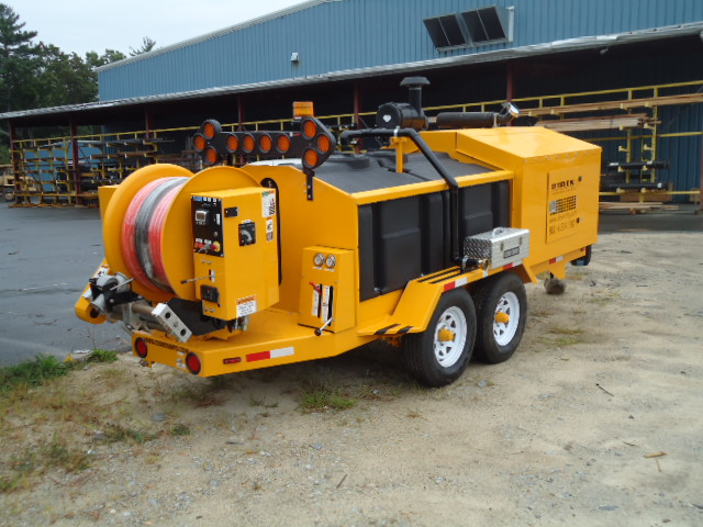 Yellow O'Brien Trailer Jetter