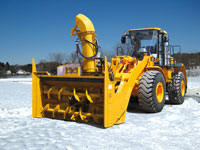 detachable snow blower for loader