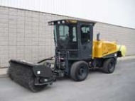 sweeper and water tank for sidwalk tractor
